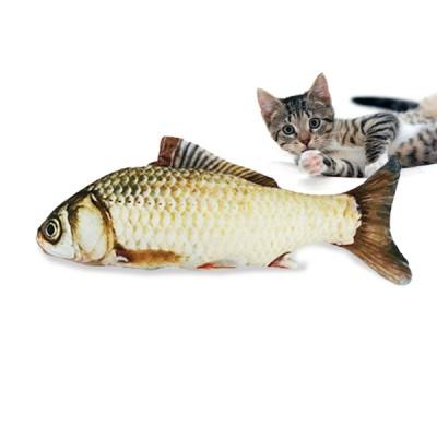 [100%리얼리티]쥬쥬베 물고기 캣닙쿠션 (붕어)-길이30cm